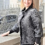 Giacca in persiano grigio swakara