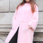 Pelliccia in visone tinto rosa