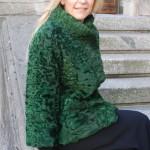 Giacca in agnello persiano tinta verde